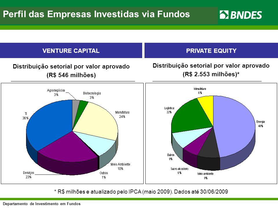 Perfil das Empresas Investidas via Fundos