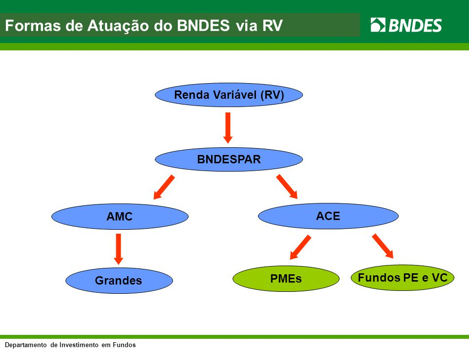 Formas de Atuação do BNDES via RV