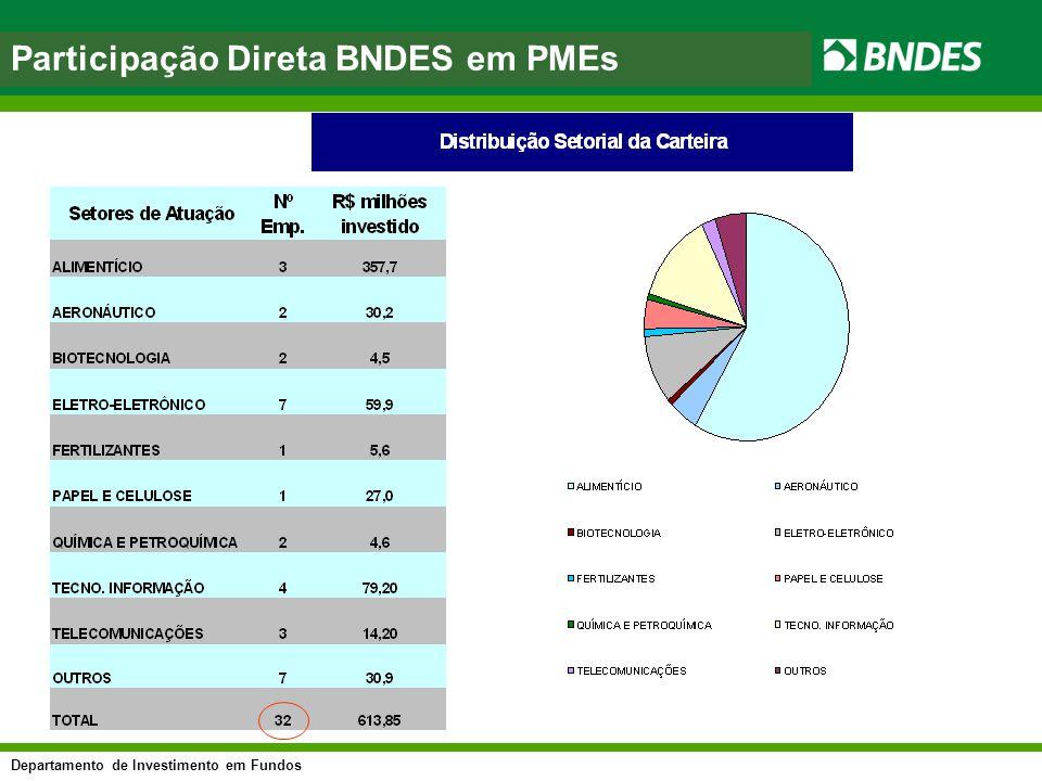 Participação Direta BNDES em PMEs