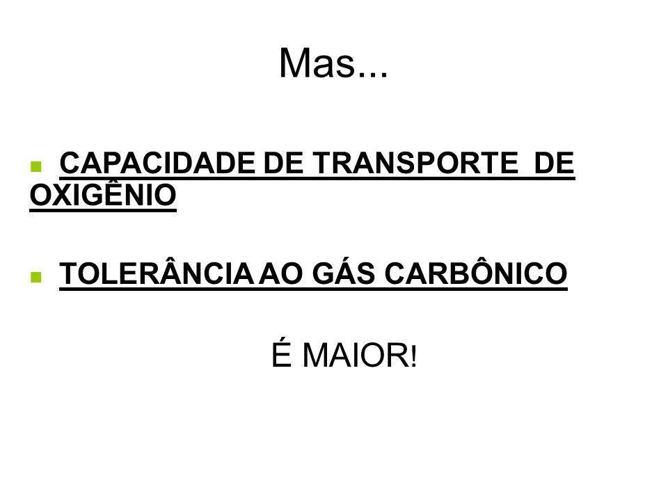 Mas... É MAIOR! CAPACIDADE DE TRANSPORTE DE OXIGÊNIO