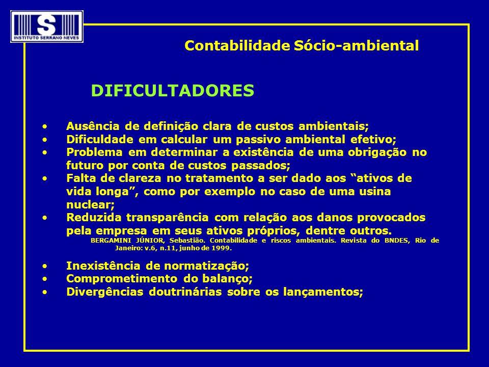 DIFICULTADORES Contabilidade Sócio-ambiental