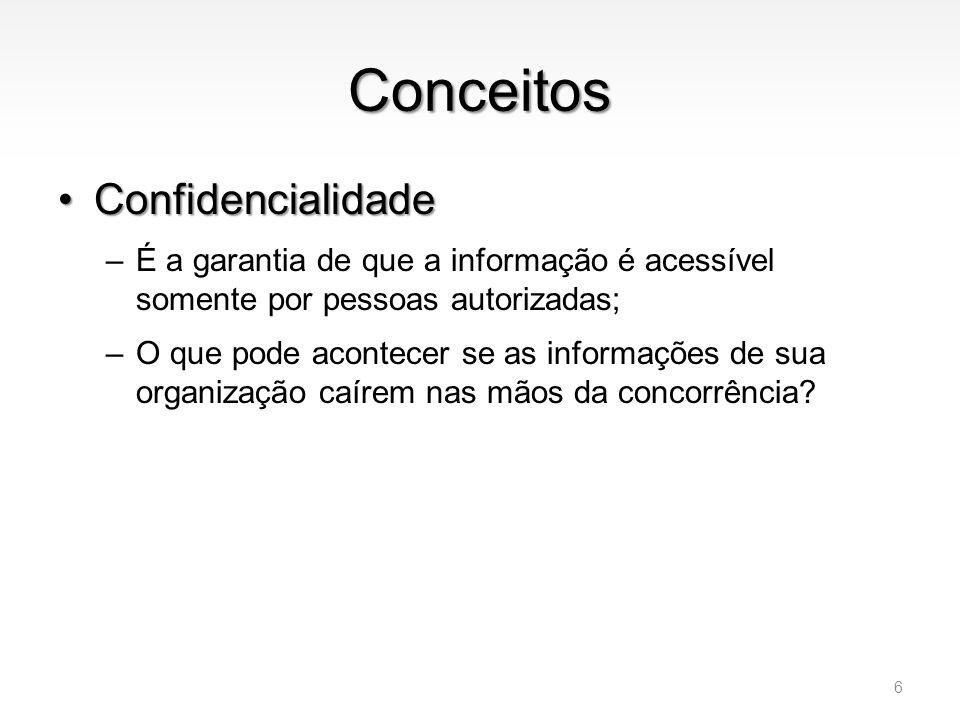 Conceitos Confidencialidade