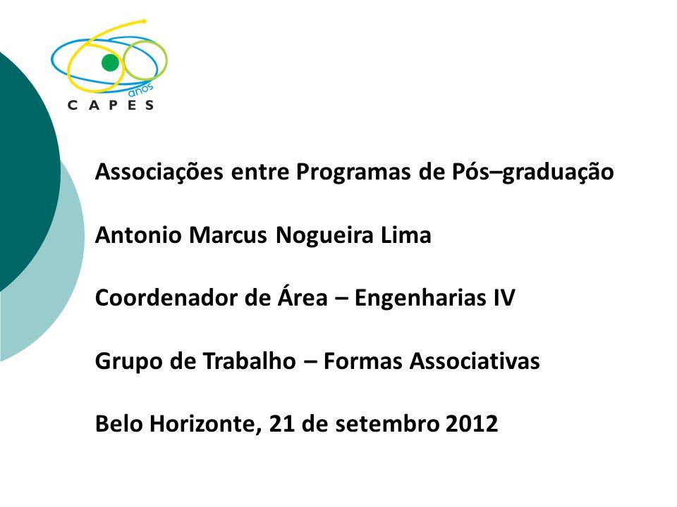Associações entre Programas de Pós–graduação