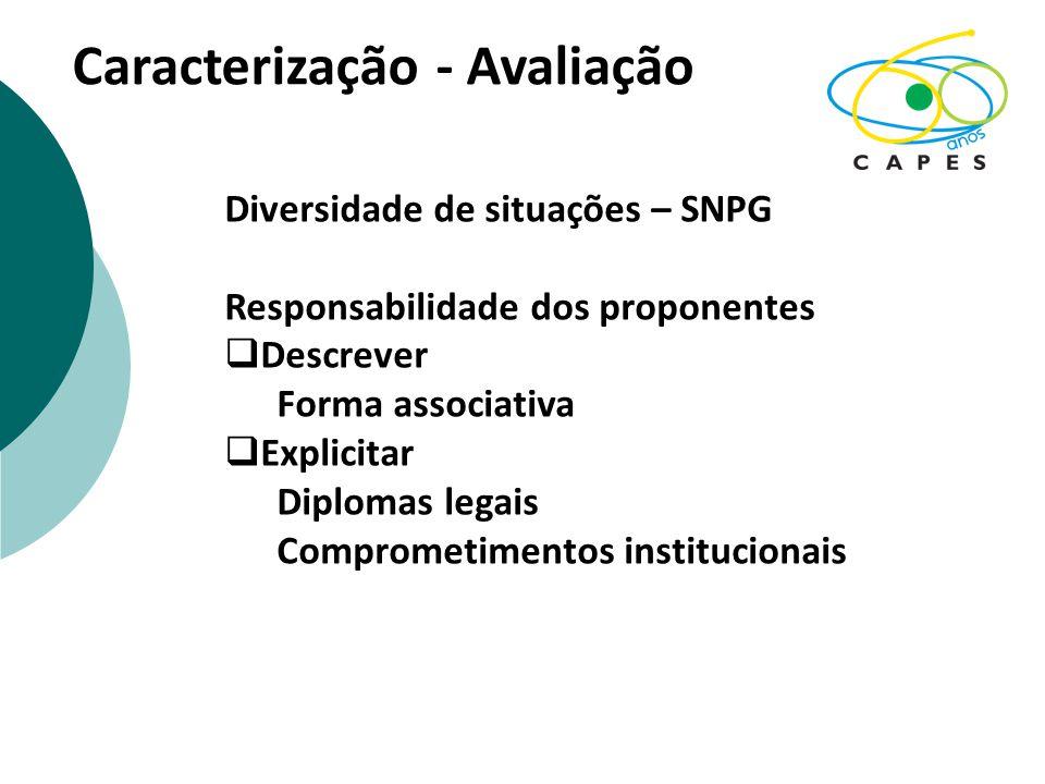 Caracterização - Avaliação