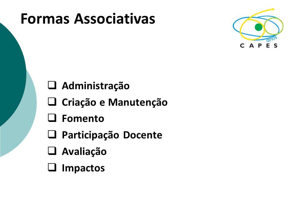 Formas Associativas Administração Criação e Manutenção Fomento