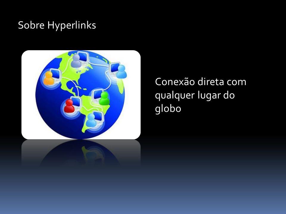 Sobre Hyperlinks Conexão direta com qualquer lugar do globo