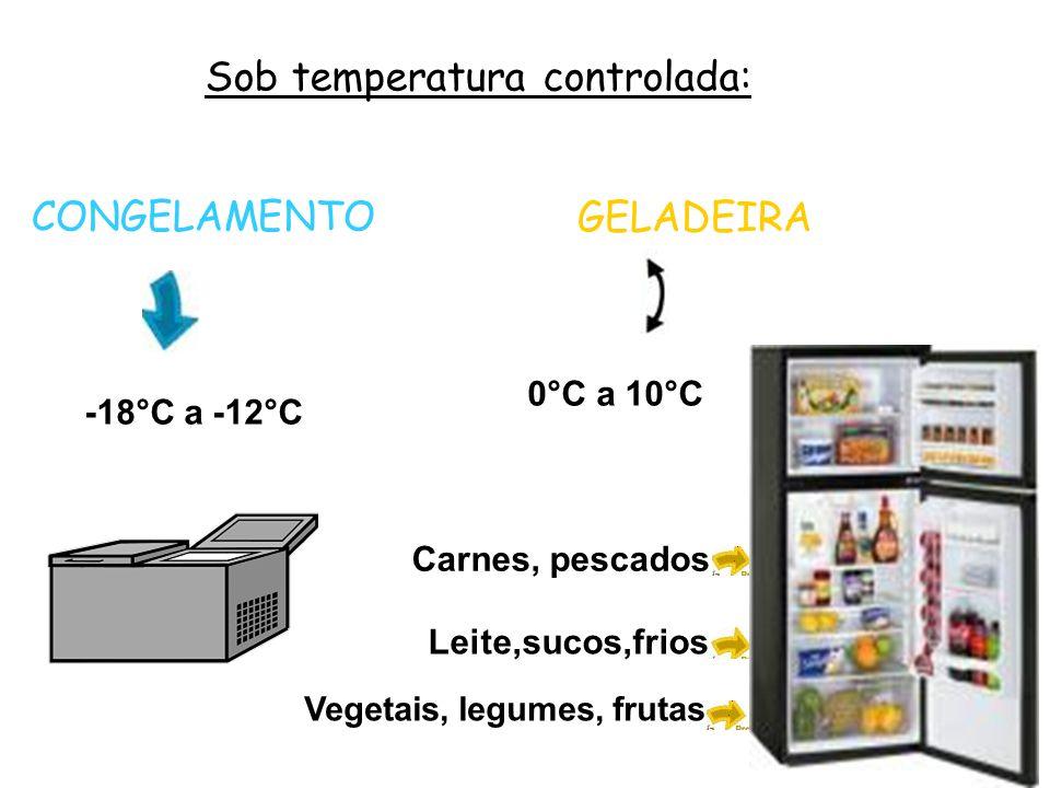 Sob temperatura controlada: