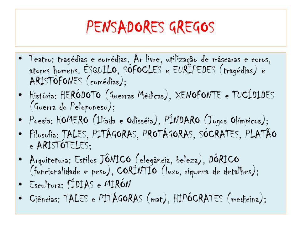 PENSADORES GREGOS