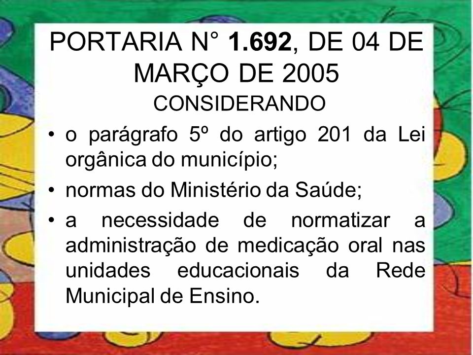 PORTARIA N° 1.692, DE 04 DE MARÇO DE 2005