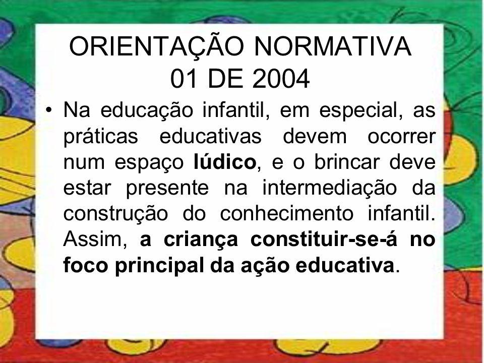 ORIENTAÇÃO NORMATIVA 01 DE 2004