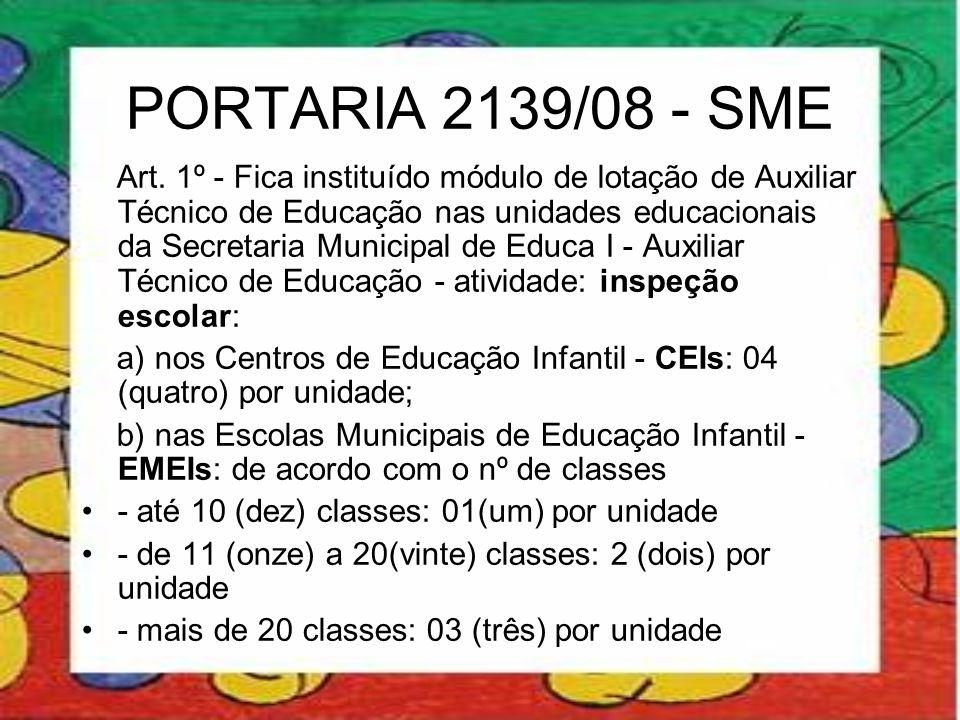 PORTARIA 2139/08 - SME