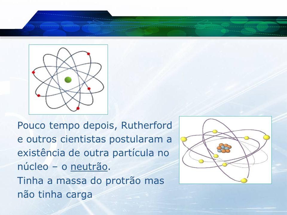 Pouco tempo depois, Rutherford e outros cientistas postularam a existência de outra partícula no núcleo – o neutrão.