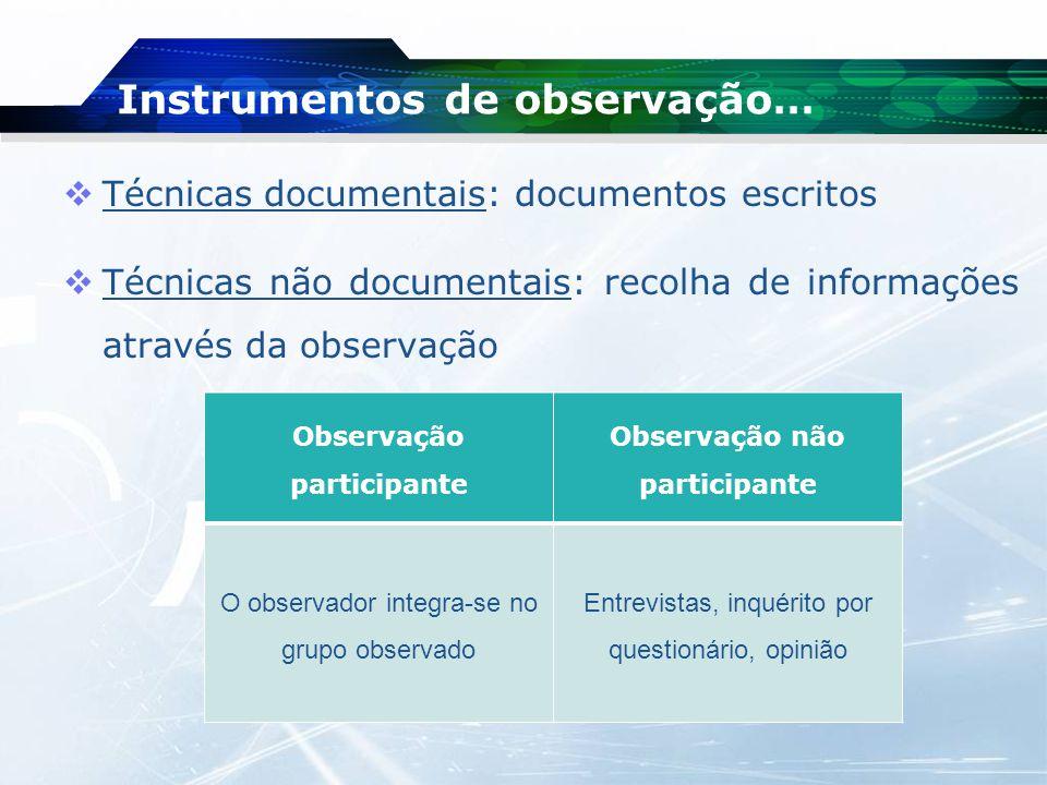 Instrumentos de observação…