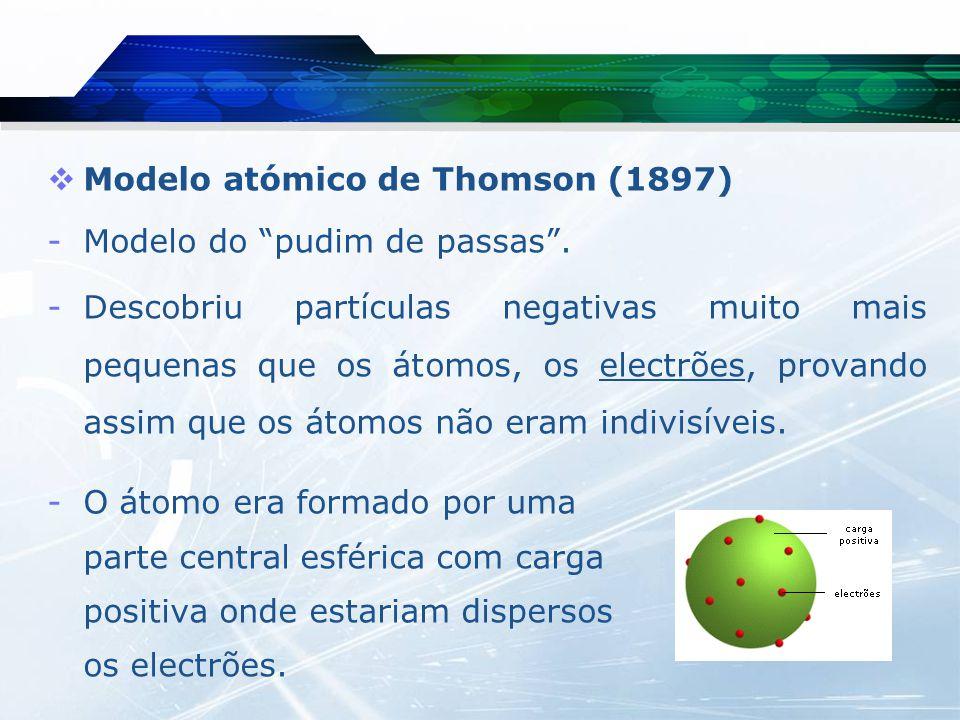 Modelo atómico de Thomson (1897)