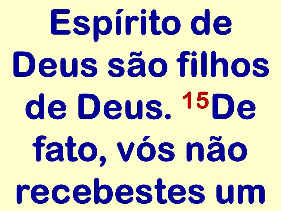 Espírito de Deus são filhos de Deus. 15De fato, vós não recebestes um
