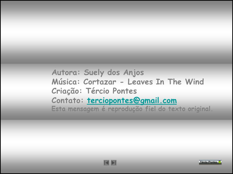 Autora: Suely dos Anjos Música: Cortazar - Leaves In The Wind