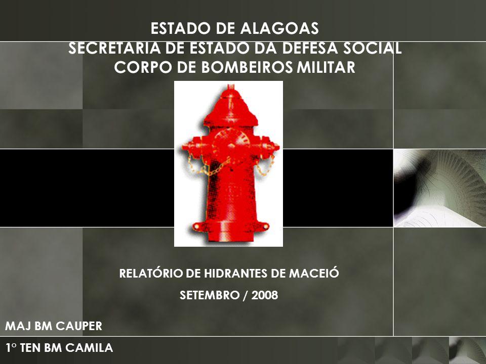 RELATÓRIO DE HIDRANTES DE MACEIÓ