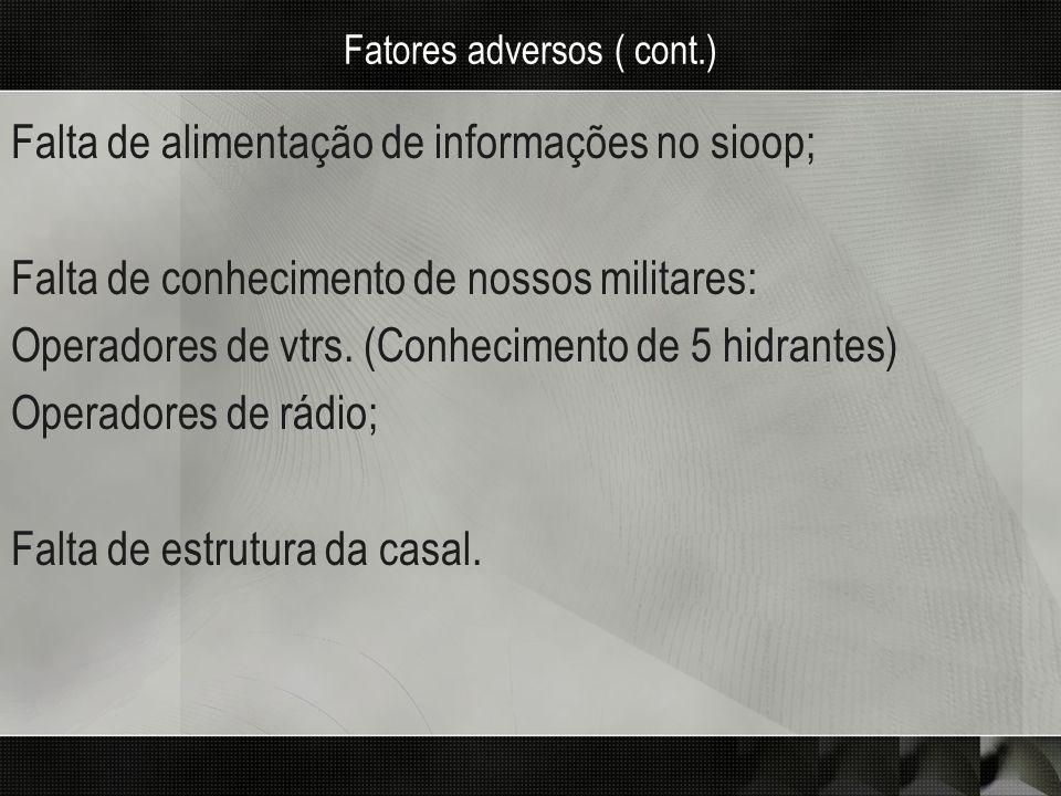 Fatores adversos ( cont.)