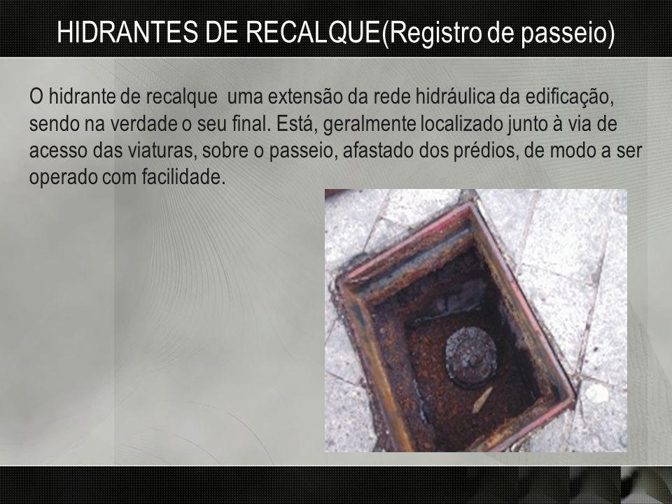 HIDRANTES DE RECALQUE(Registro de passeio)