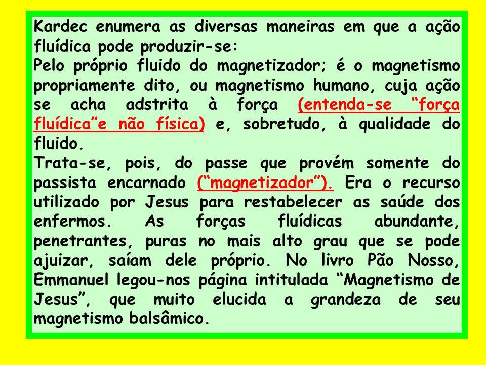 Kardec enumera as diversas maneiras em que a ação fluídica pode produzir-se: