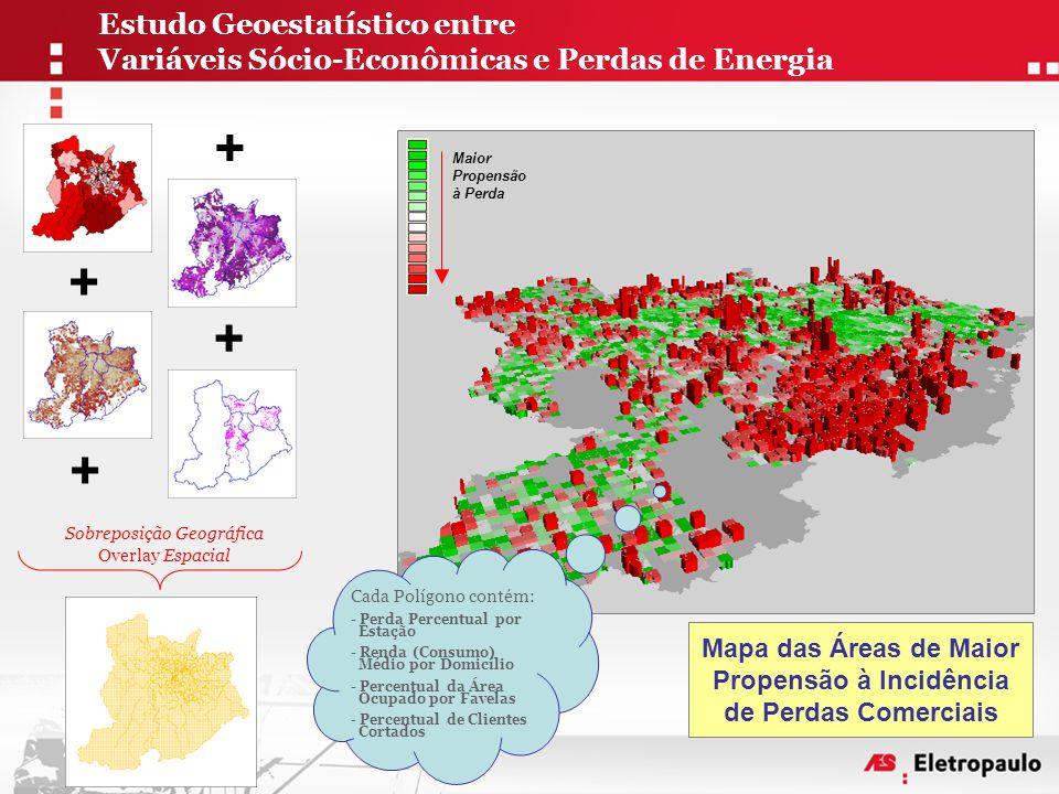 Mapa das Áreas de Maior Propensão à Incidência de Perdas Comerciais