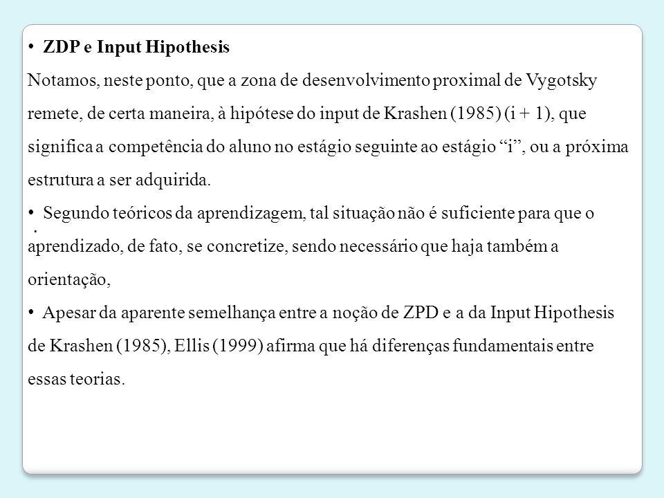 ZDP e Input Hipothesis