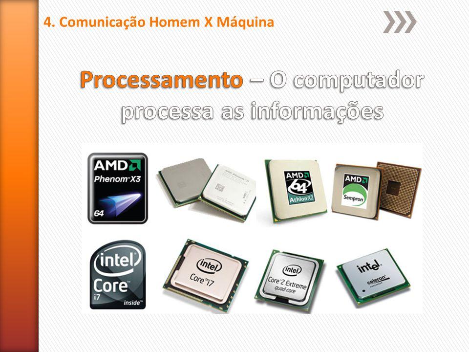Processamento – O computador processa as informações
