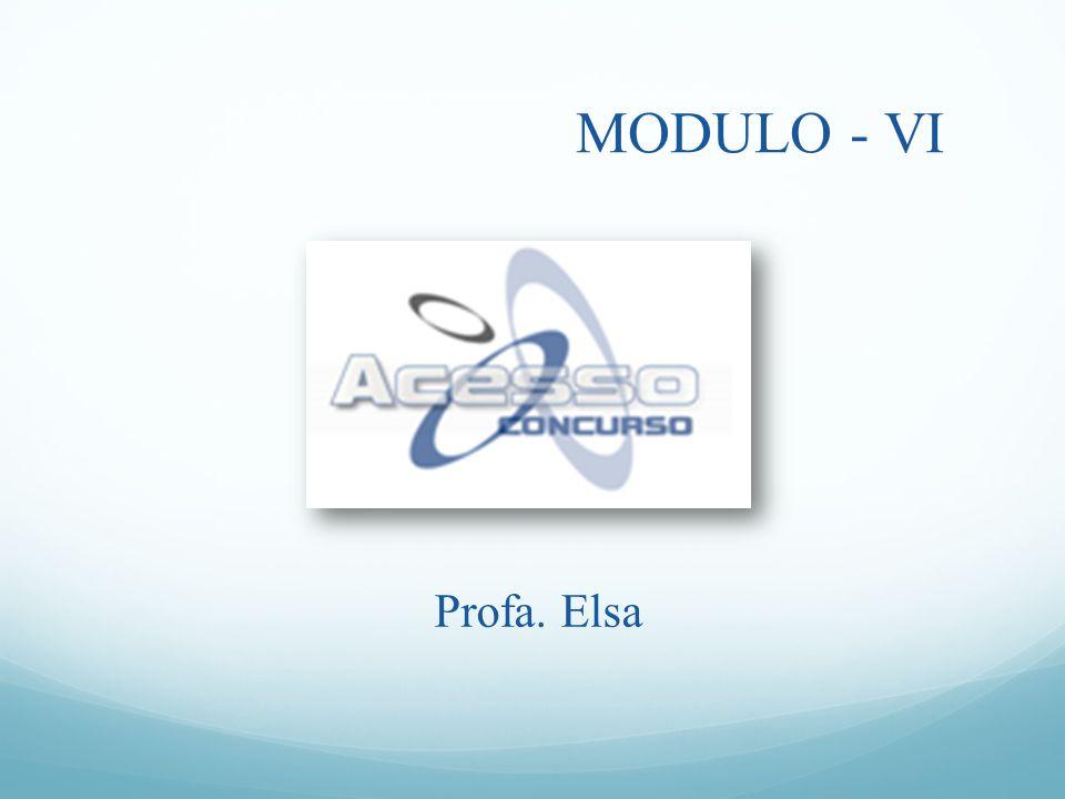 MODULO - VI Profa. Elsa