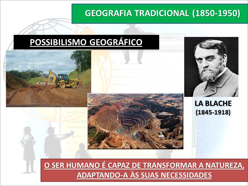 GEOGRAFIA TRADICIONAL (1850-1950) POSSIBILISMO GEOGRÁFICO