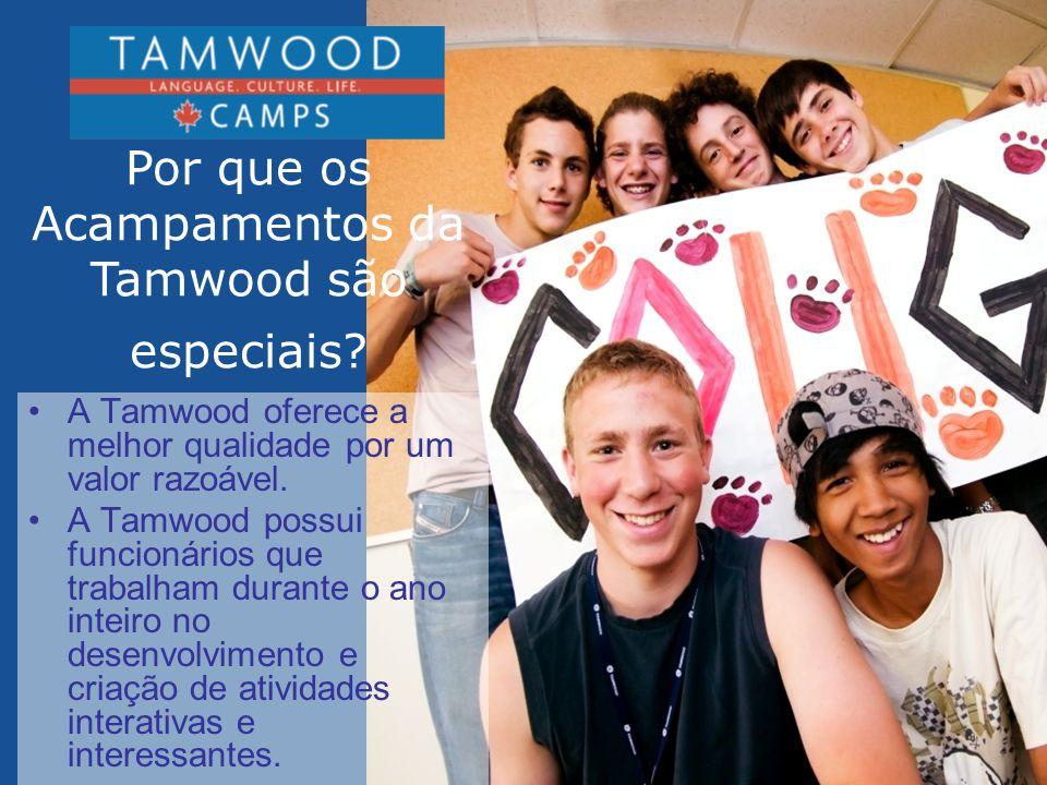 Por que os Acampamentos da Tamwood são especiais
