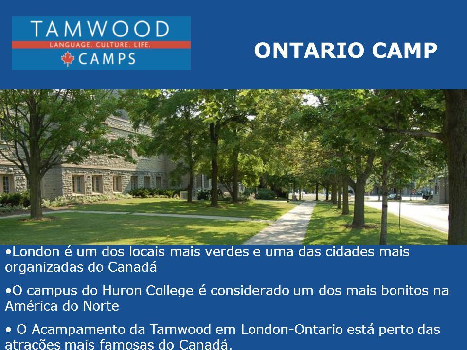 ONTARIO CAMP London é um dos locais mais verdes e uma das cidades mais organizadas do Canadá.