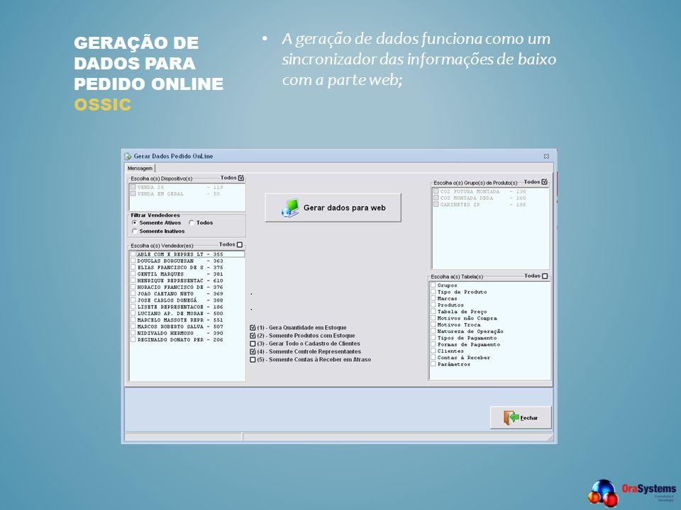 Geração de dados para pedido online ossic