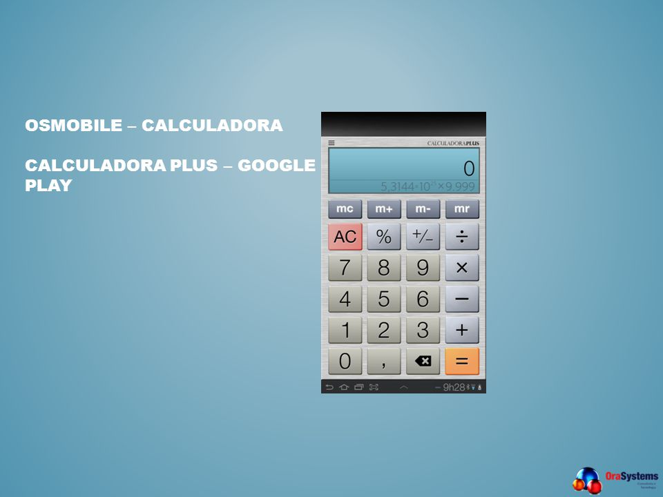 OSMobile – Calculadora CALCULADORA PLUS – GOOGLE PLAY