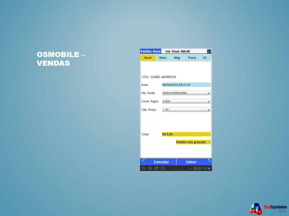 OSMobile – Vendas