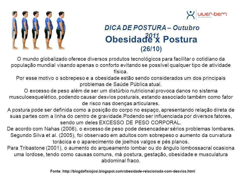 Obesidade x Postura (26/10)