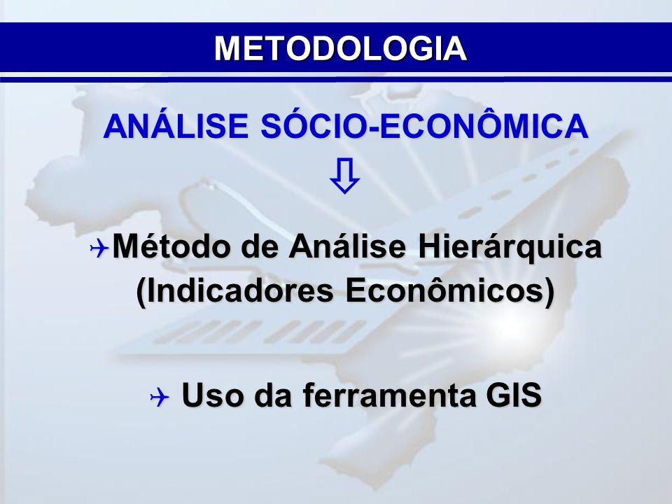  METODOLOGIA ANÁLISE SÓCIO-ECONÔMICA