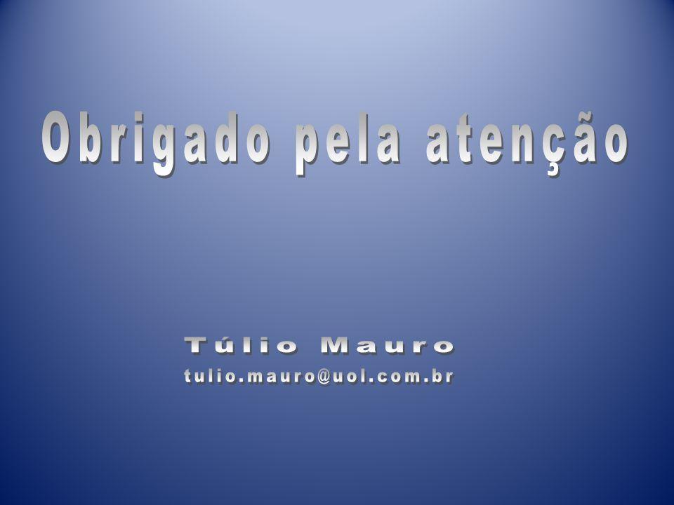 Obrigado pela atenção Túlio Mauro tulio.mauro@uol.com.br