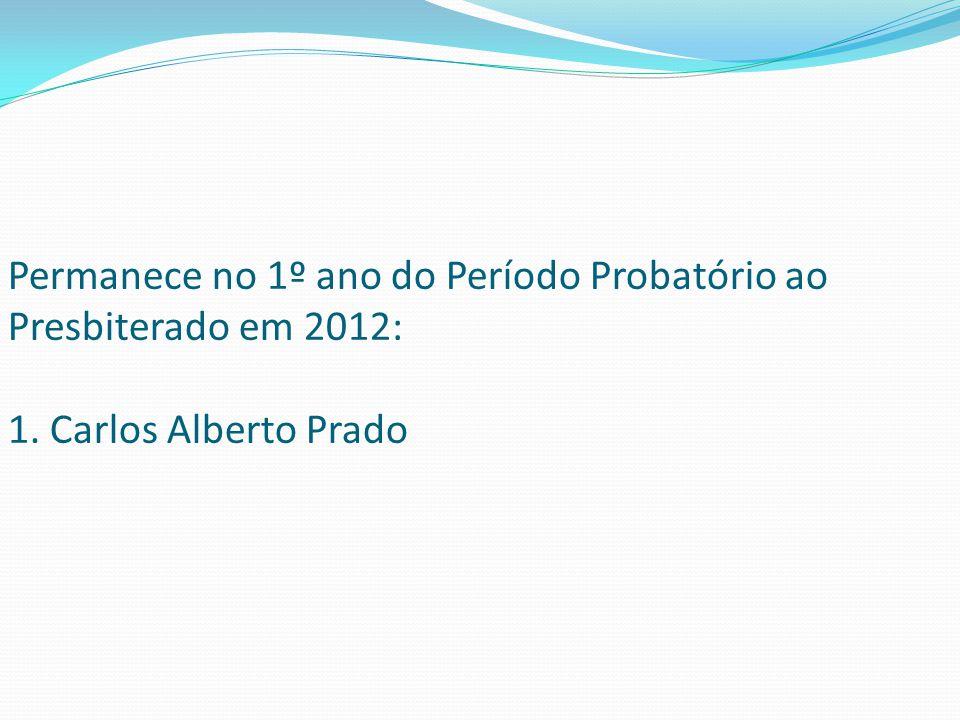 Permanece no 1º ano do Período Probatório ao Presbiterado em 2012: 1