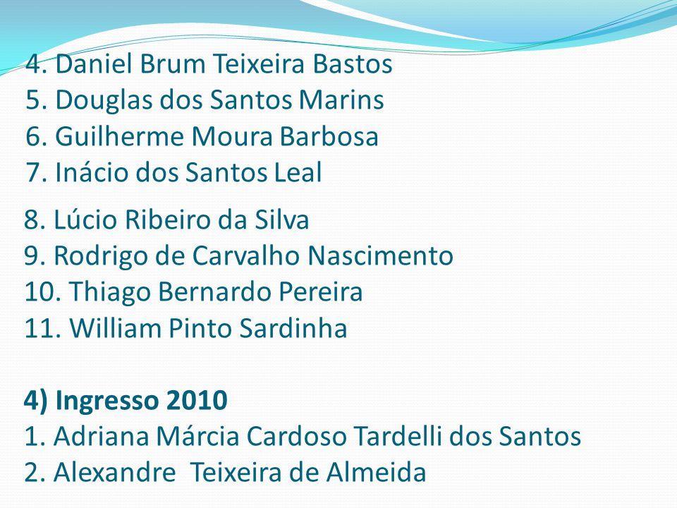 4. Daniel Brum Teixeira Bastos 5. Douglas dos Santos Marins 6