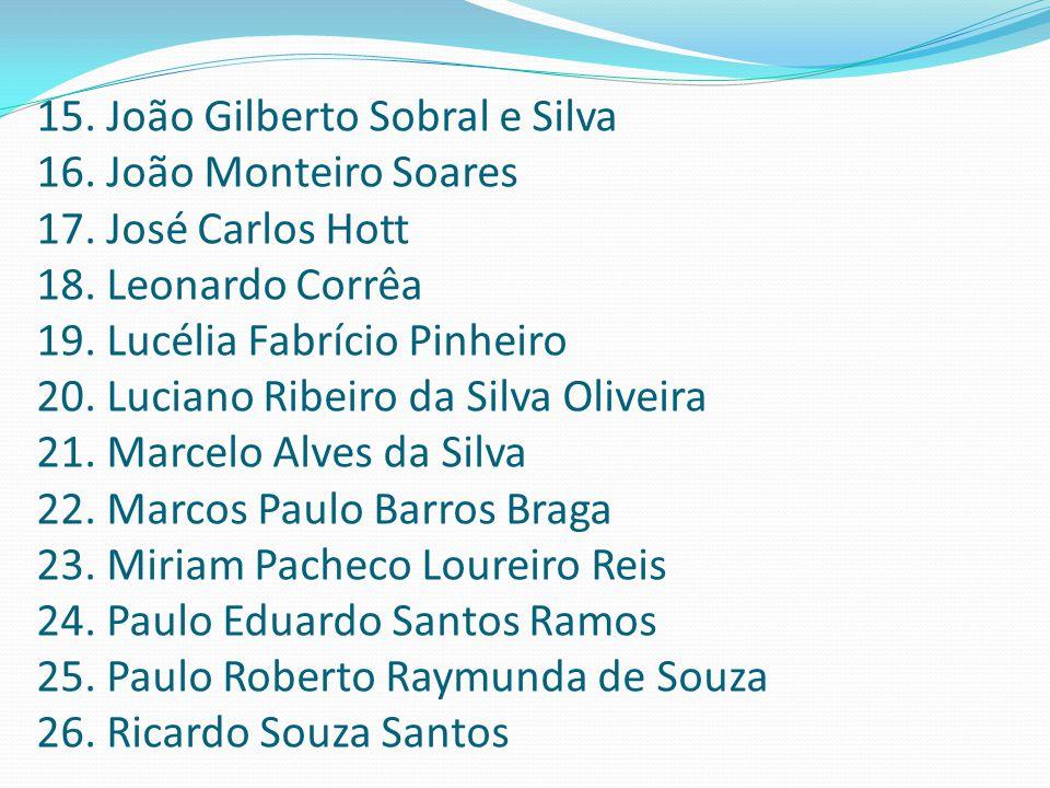 15. João Gilberto Sobral e Silva
