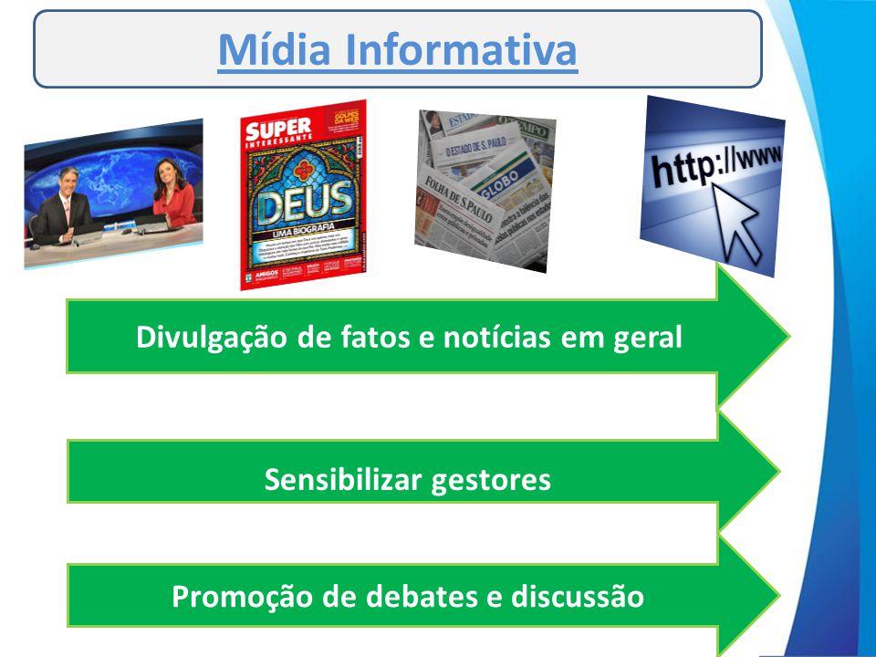 Mídia Informativa Divulgação de fatos e notícias em geral