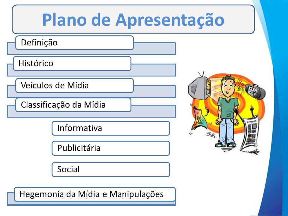 Plano de Apresentação Definição Histórico Veículos de Mídia