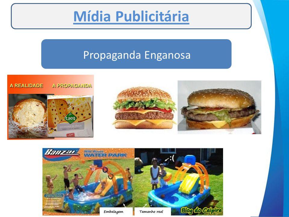 Mídia Publicitária Propaganda Enganosa