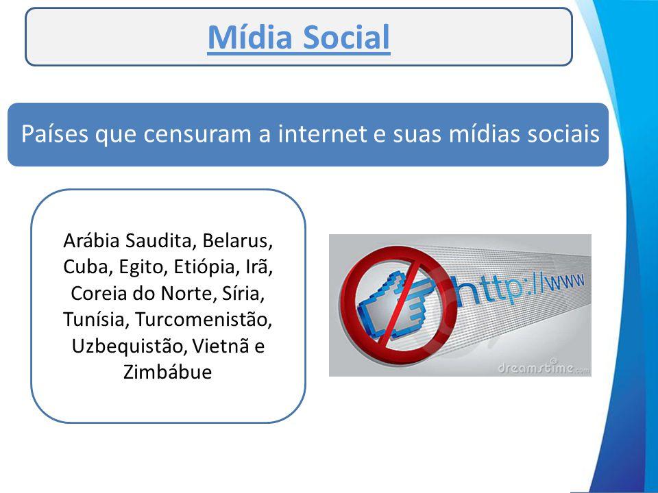 Países que censuram a internet e suas mídias sociais