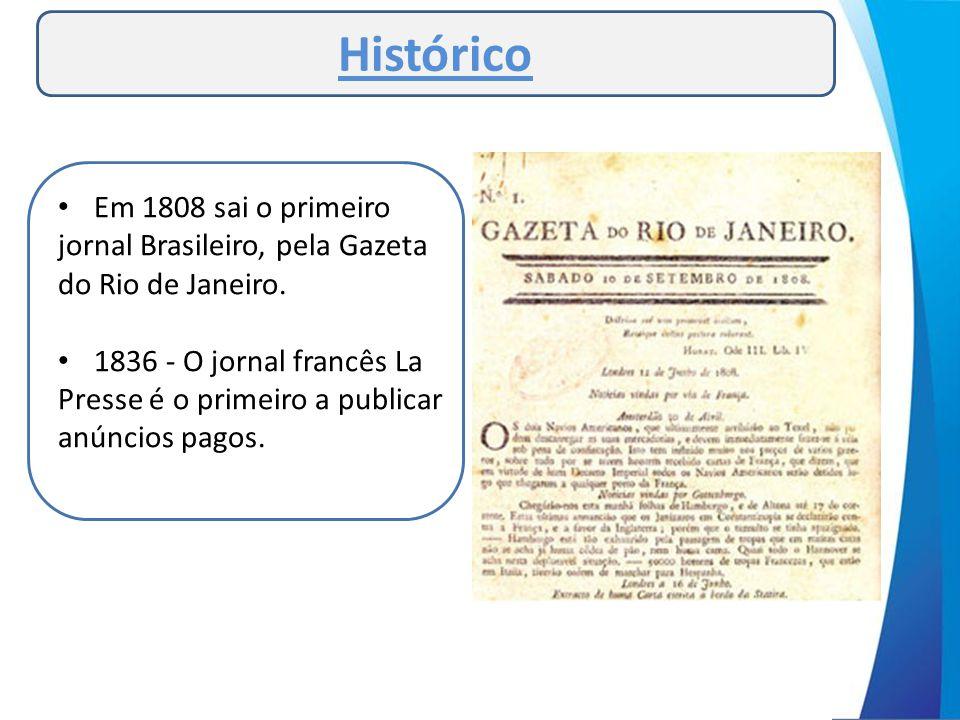Histórico Em 1808 sai o primeiro