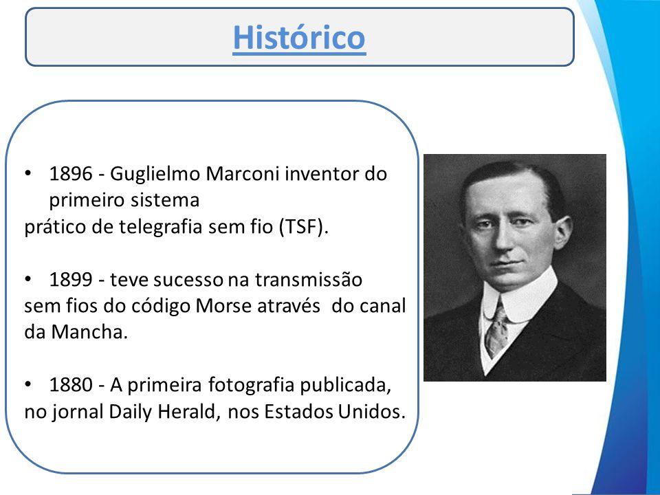 Histórico 1896 - Guglielmo Marconi inventor do primeiro sistema