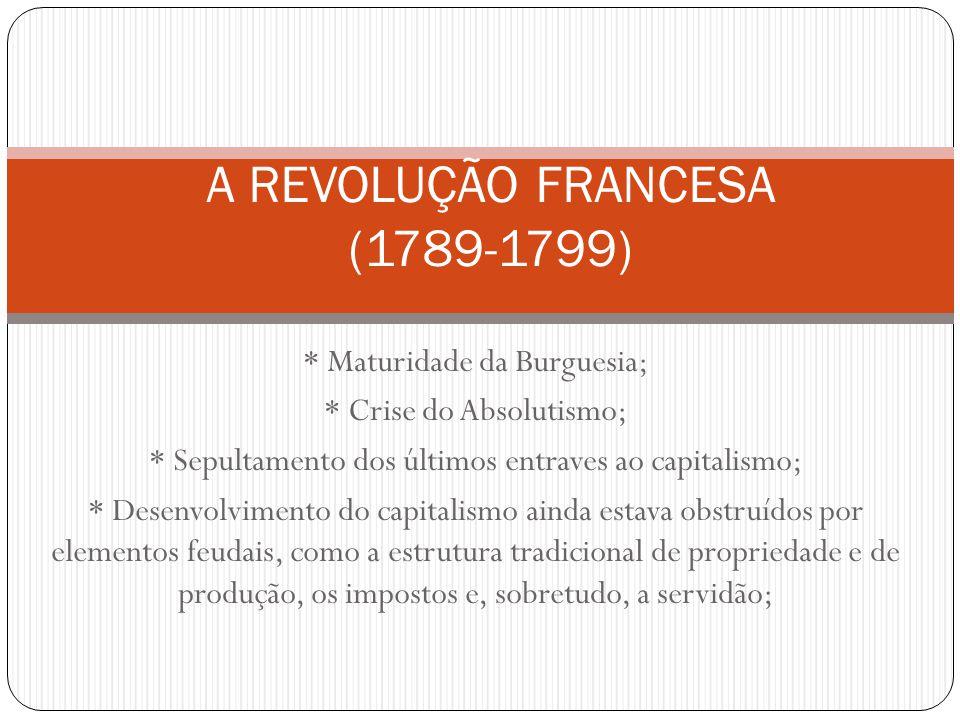 A REVOLUÇÃO FRANCESA (1789-1799)