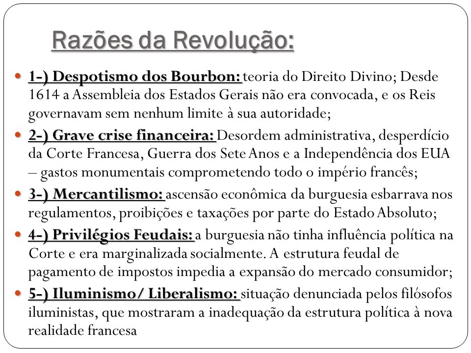 Razões da Revolução: