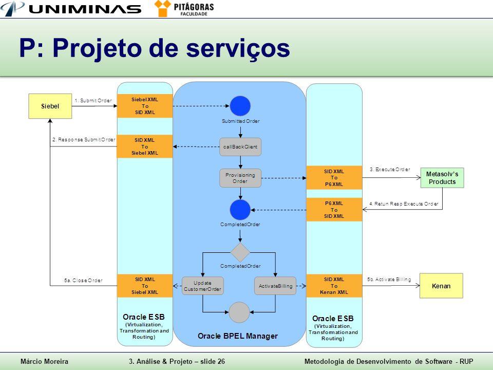 P: Projeto de serviços