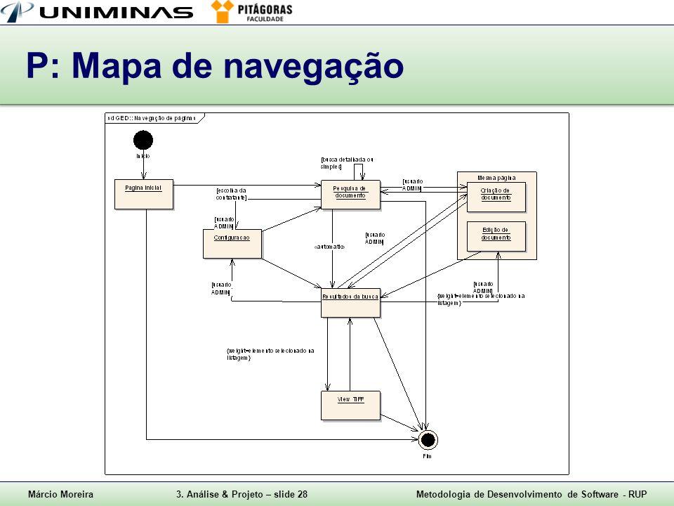 P: Mapa de navegação